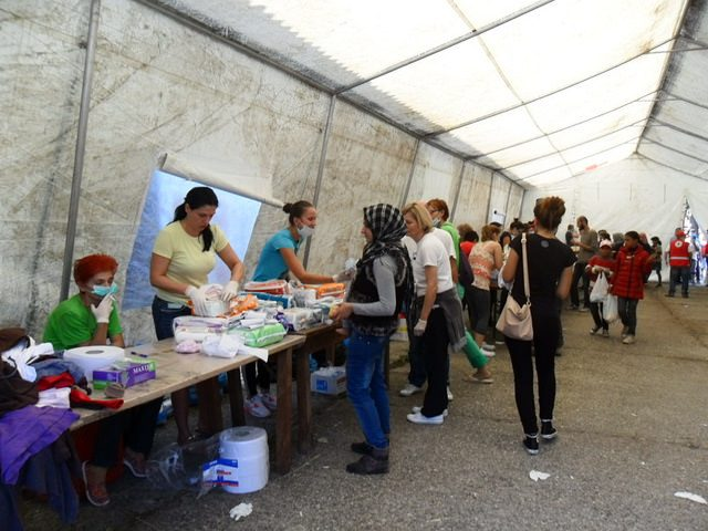 Life inside a refugee reception centre in Croatia