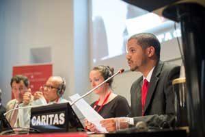 Los jóvenes presentes en la Asamblea General