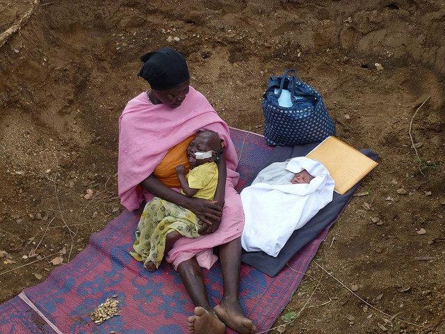 Hospital de la Iglesia bombardeado en las montañas Nuba de Sudán