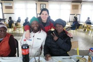 Christmas lunch with refugees in Belgrade