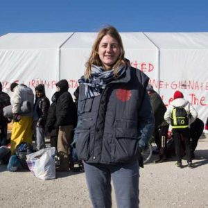 Refugees and migrants on the Greek border with Macedonia