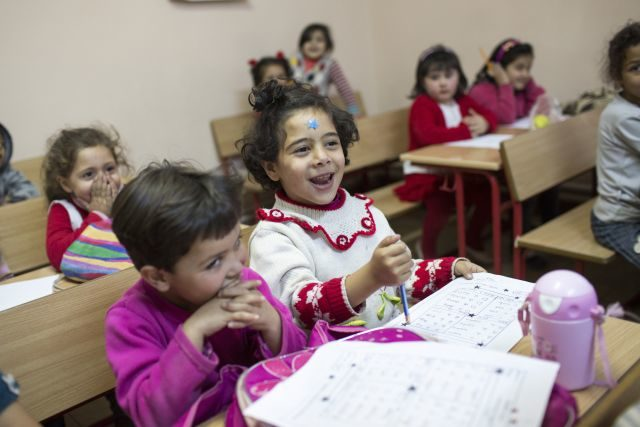 Syrian children learning to hope