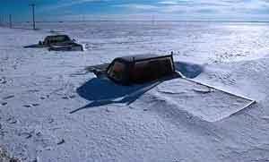 Une violente temepete de neige frappe la Mongolie