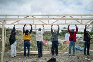 Dentro del campamento de inmigrantes de Calais