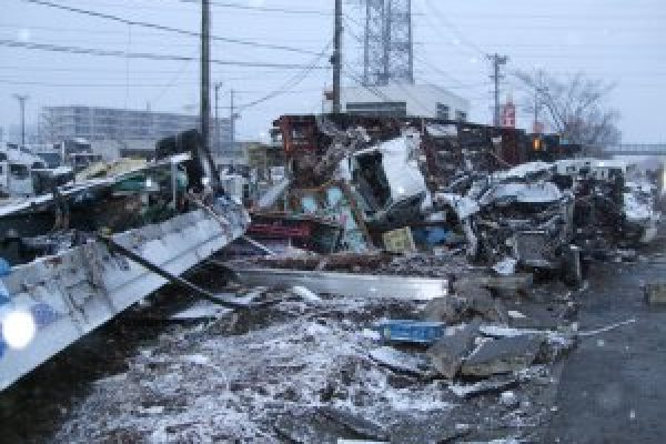Caritas Japan visits earthquake-hit Sendai City