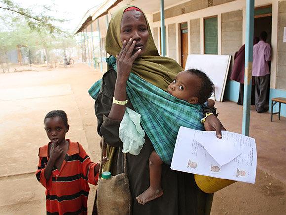 Fleeing Somalia as famine declared