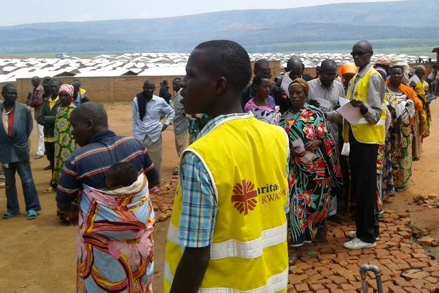 Caritas Rwanda supports 7000 people in the camp.