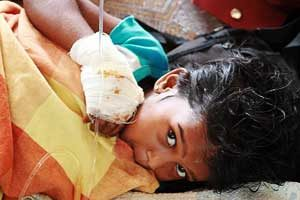 Unprecedented human tragedy in Sri Lanka