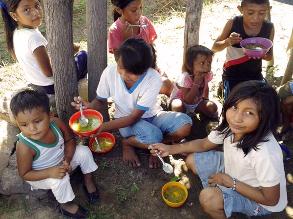 Caritas provides food and basic medicines to children affected by malnutrition.