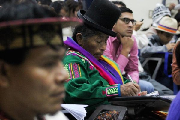 Indigenous speaking out against human rights abuses
