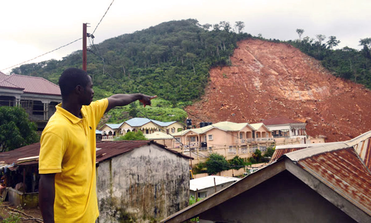 Caritas helps mudslide survivors in Sierra Leone