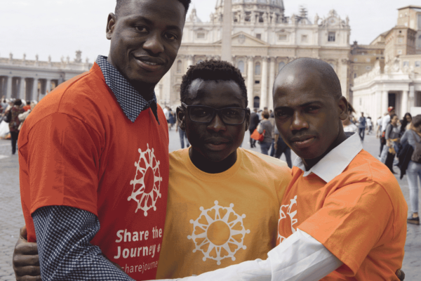 Young migrants join Caritas for the launch of the 'Share the Journey' campaign