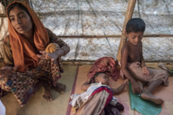 Birth and death in Rohingya refugee camps