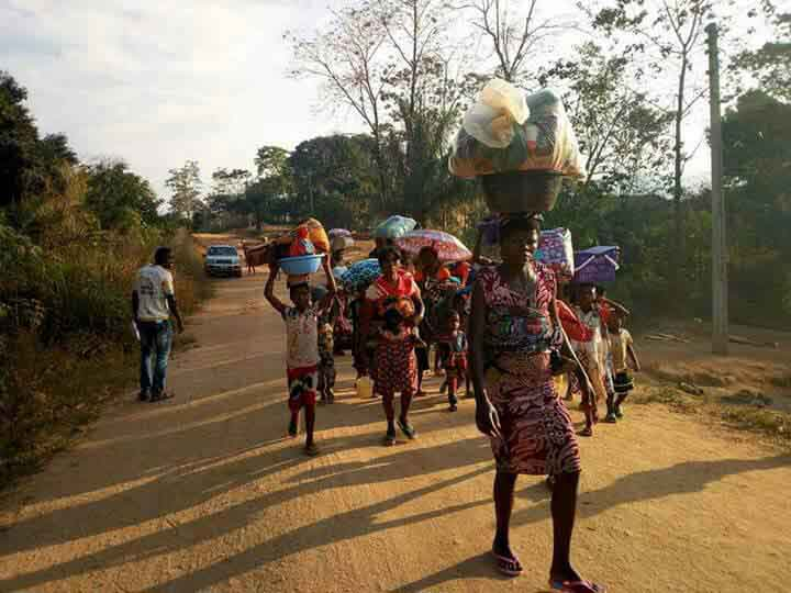 nigeria aids refugees fleeing from cameroon caritas