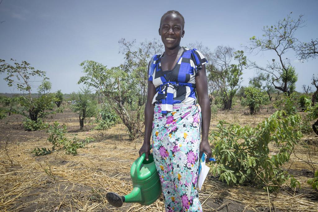 Rebecca Moria is part of the livelihood program of Caritas Arua