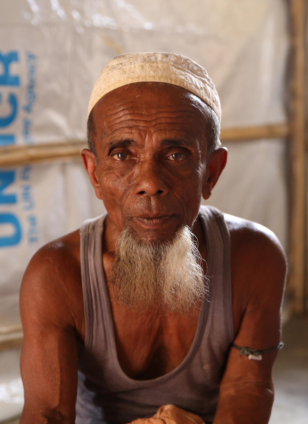 Hamid from Myanmar has received a new shelter from Caritas.