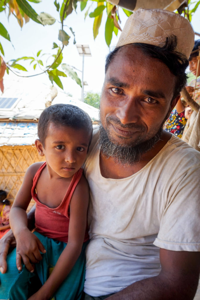 Caritas helped Nor from Myanmar to improve his shelter.