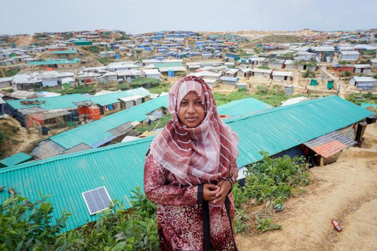 Rebeya has been working with Caritas Bangladesh to help Rohingya women