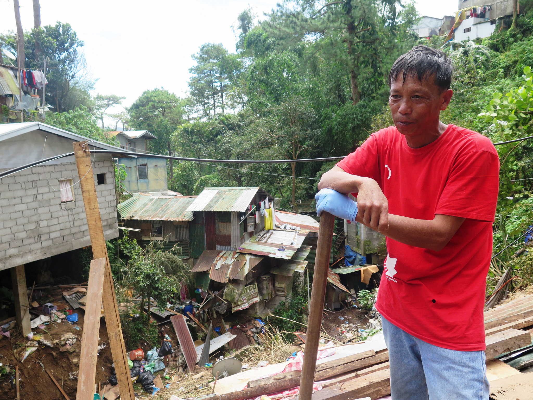 "Jesse from the Philippines says, ""I construct houses. I don't put them down."""