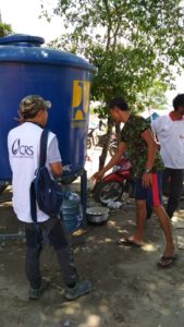 Caritas is providing water and other supplies to people affected by the Indonesia earthquake and tsunami.