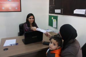 Maram receives help from Caritas Syria and their inter faith partners