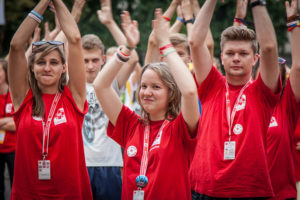 Young people at World Youth Day in Krakow, Poland, in 2016 said they were motivated by a spirit of adventure. Photo: Caritas Poland