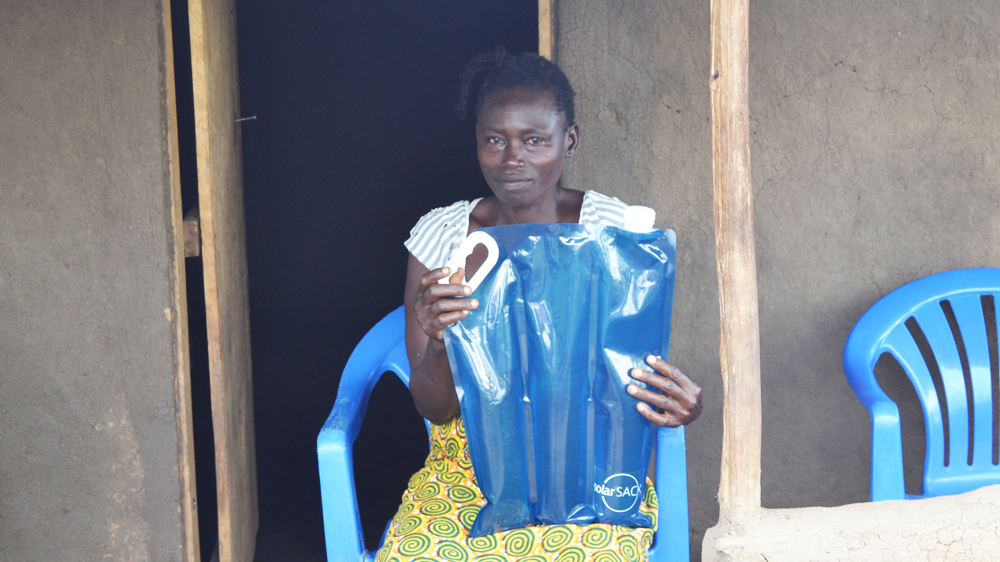 One of the women in Uganda who will by trying out the solarsack.