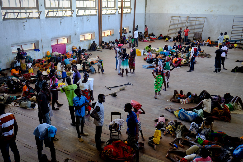 Local school as temporary shelter in Beira, Mozambique