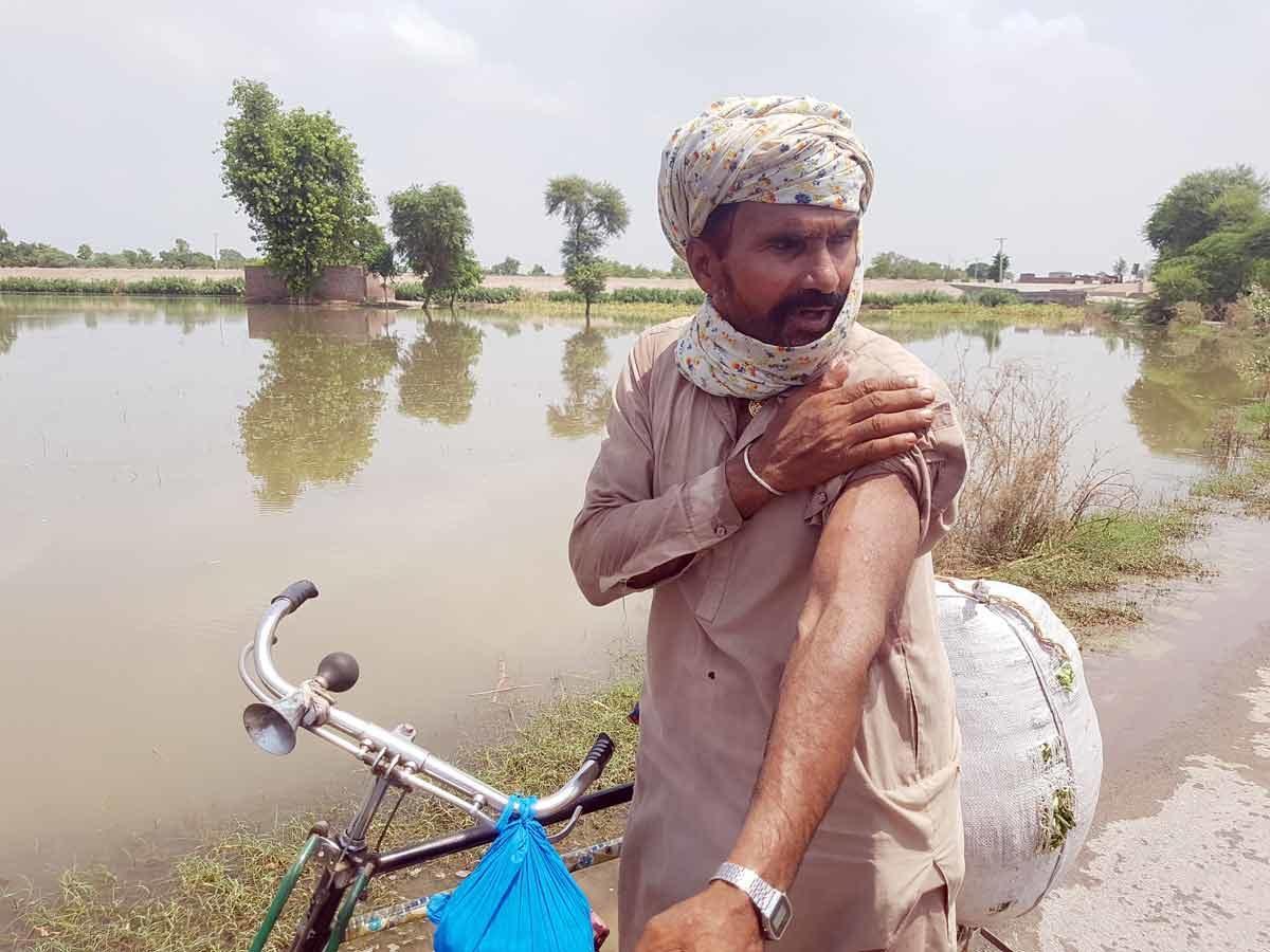 Caritas lutte contre les inondations au Pakistan