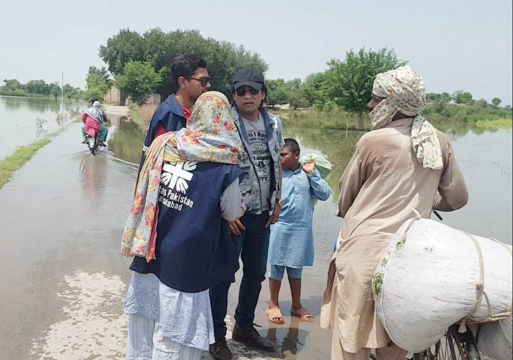 Caritas workers are at the forefront helping emergency relief efforts in Pakistan where monsoon flooding has caused 221 deaths and driven thousands of people from their homes.