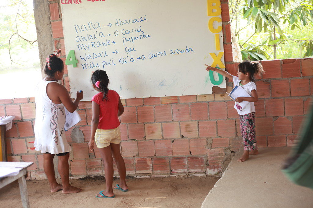 School for the children of the indigenous community.