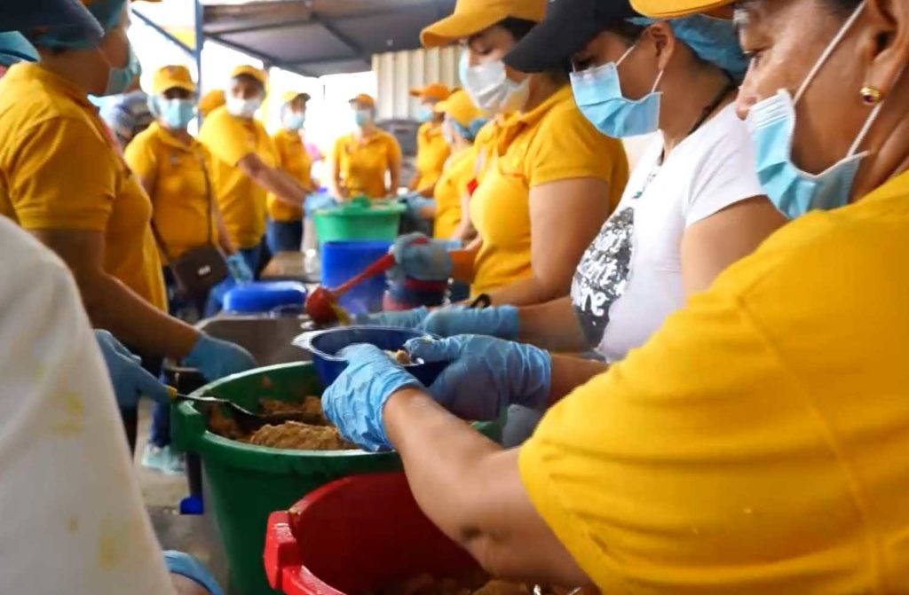 Caritas soup kitchen in the border between Venezuela and Colombia.