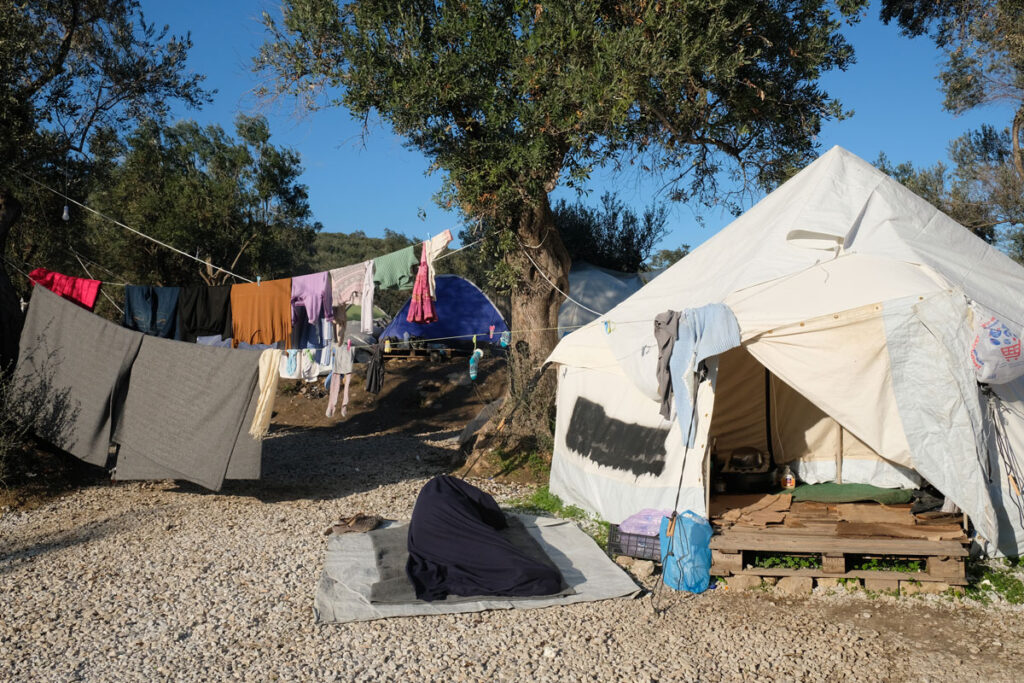 Moria camp in Lesbos.