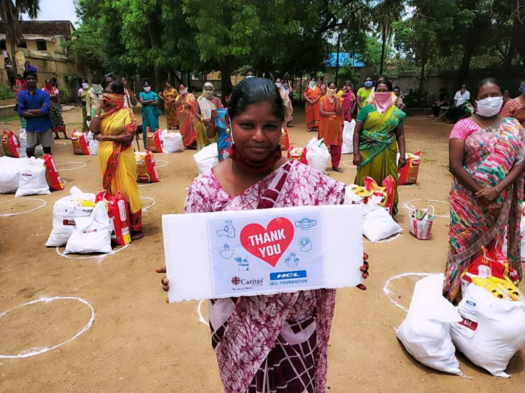 Human trafficking and COVID-19 in India. Caritas hopes their aid to prevent women or their children from falling victim to trafficking.
