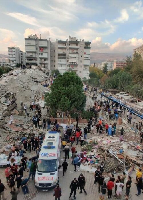 Appeal for Izmir earthquake in Turkey.