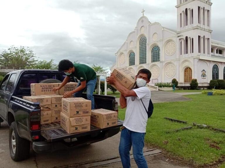 Relief distribution by NASSA/Caritas Philippines