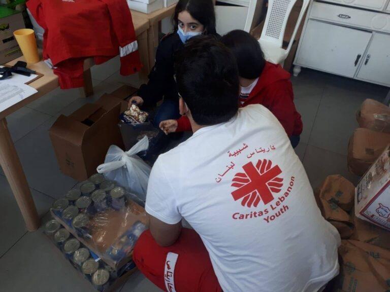 Caritas young volunteers in Lebanon