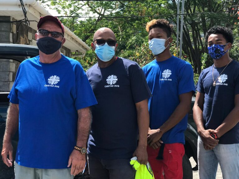 Caritas organisations in the Caribbean islands are rallying around the island of St Vincent after the eruption of La Soufrière volcano.